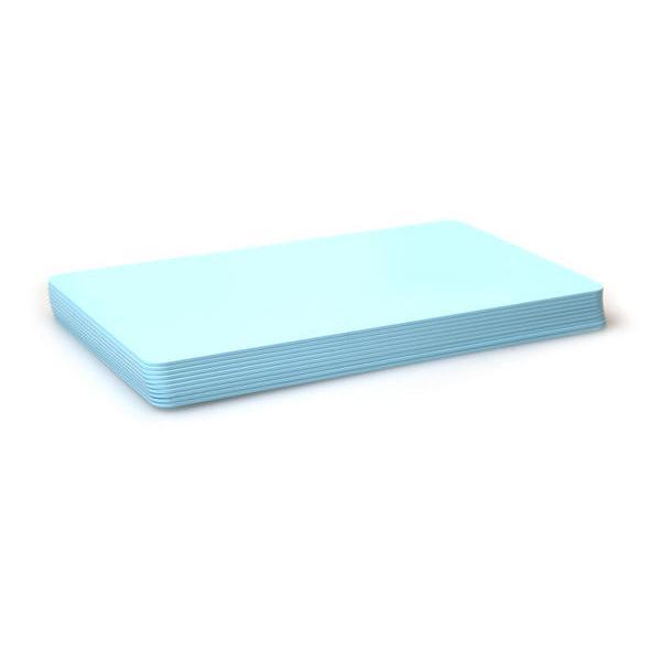 Plastikkarten Hellblau, Rohling aus PVC