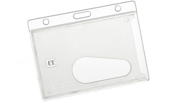 Kartenhalter quer, Ausweishülle aus Hartplastik