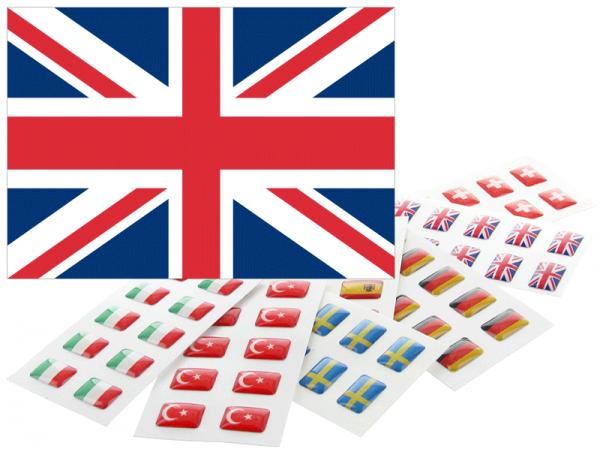 Flaggensticker für Namensschilder - Großbritannien