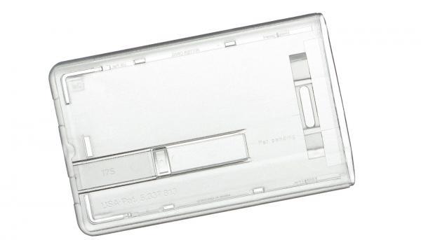 Kartenhalter mit Schieber Hochformat