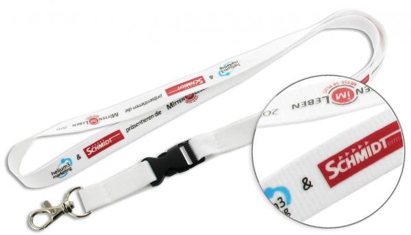 15mm Lanyards bedruckt, Siebdruck-Schlüsselbänder