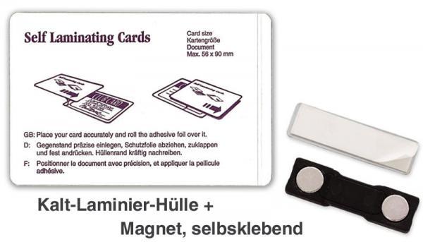 Namensschilder mit Magnethalter zum laminieren