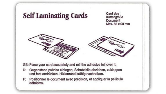 laminier ausweishalter