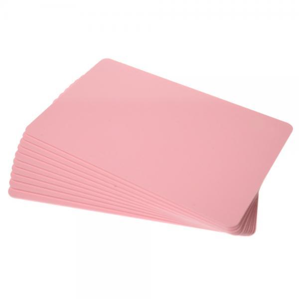 Plastikkarten Rosa, Rohling aus PVC