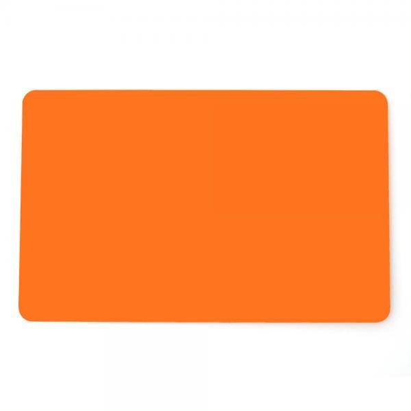 Plastikkarten Orange, Rohling aus PVC
