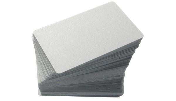 Plastikkarten Rohlinge, Silber