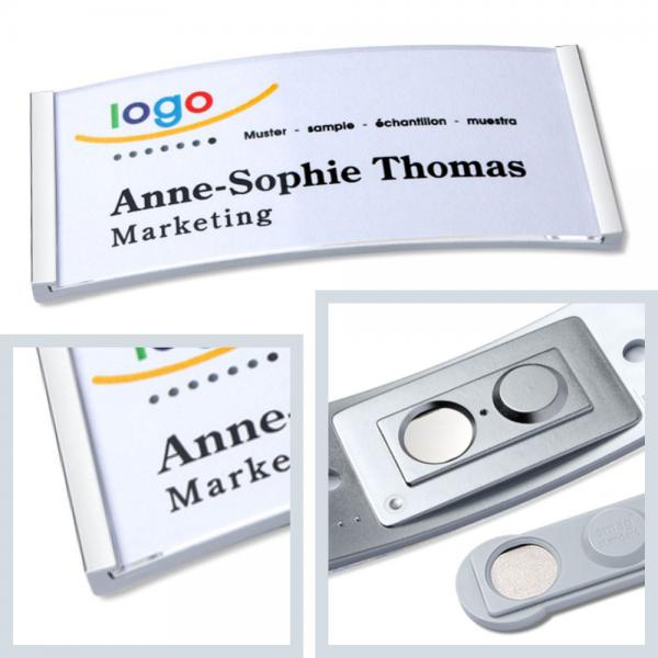 Namensschilder polar35 mit Magnet