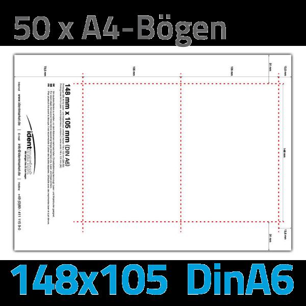 Einsteckschilder, 100 Stk., 148x105 mm (DinA6)