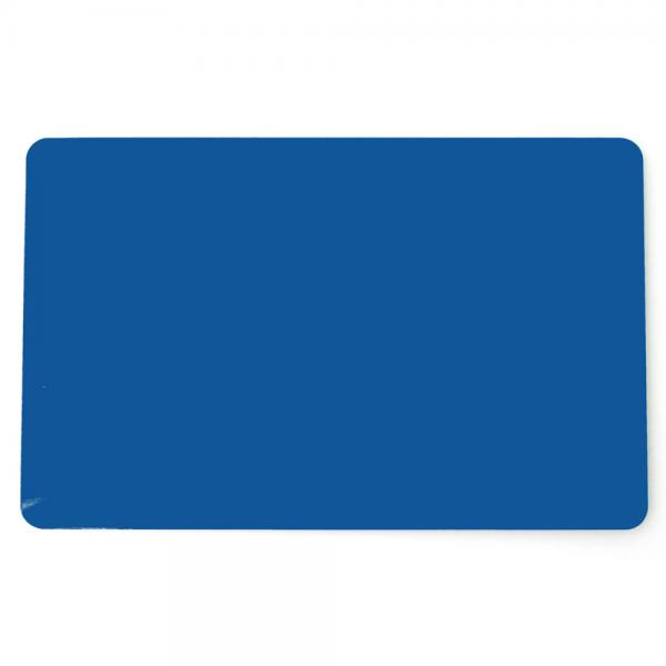 Plastikkarten Blau, Rohling aus PVC