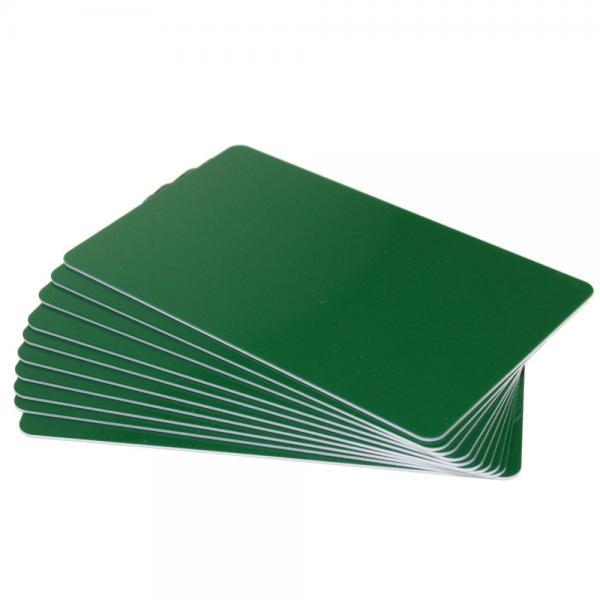 Plastikkarten Dunkelgrün, Rohling aus PVC