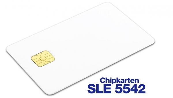 Speicherchipkarte SLE5542, Plastikkarten mit Chip