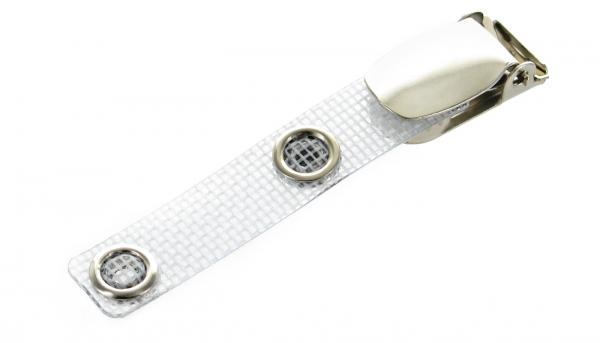 Ausweis Clip gewebeverstärkt mit Metalldruckknopf