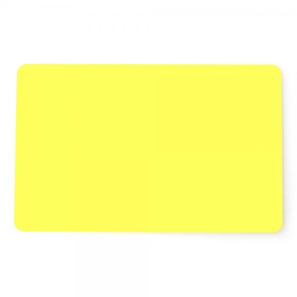 Plastikkarten Gelb, Rohling aus PVC