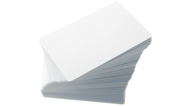 Blanko Plastikkarten in Weiß