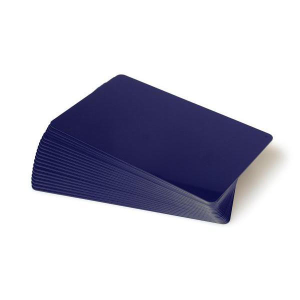 Plastikkarten Dunkelblau, Rohling aus PVC