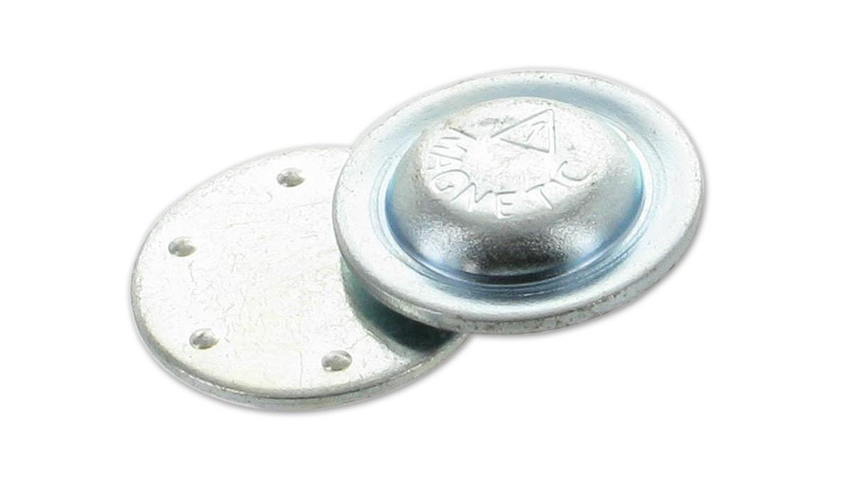 runder magnet zum aufkleben auf namensschilder buttons pins identmarket gmbh. Black Bedroom Furniture Sets. Home Design Ideas
