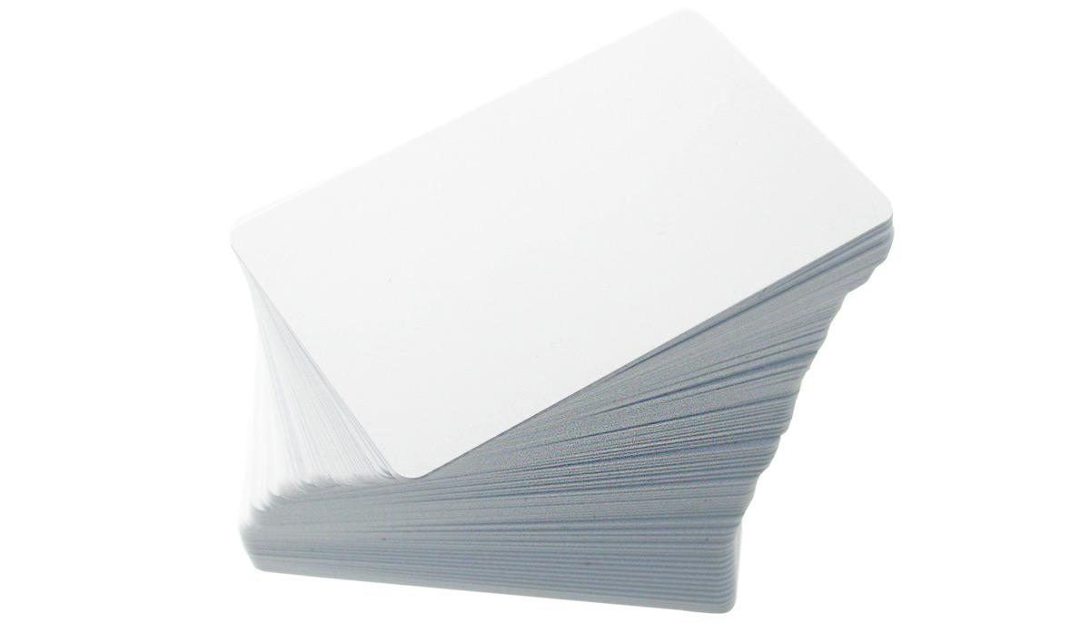 Plastikkarten 100 Stück beidseitig weiß 86 x 54 x 0,76mm Top Qualität