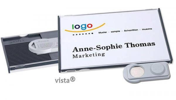 Vista 50 Magnet-Namensschild  Anthrazit