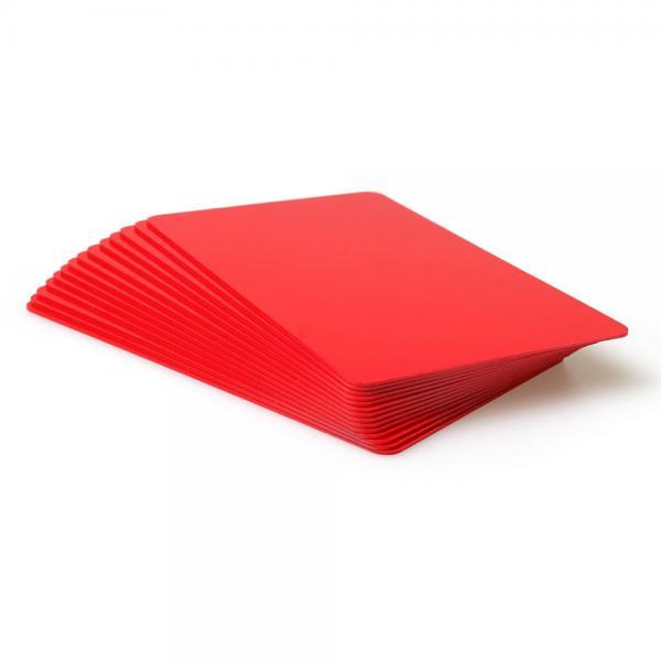 Plastikkarten Rot, Rohling aus PVC