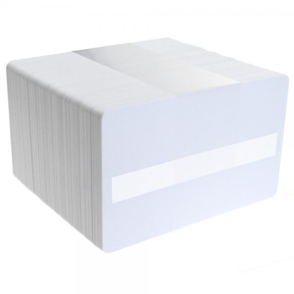 Plastikkarten Weiß mit Schreibfeld, Rohling aus PVC