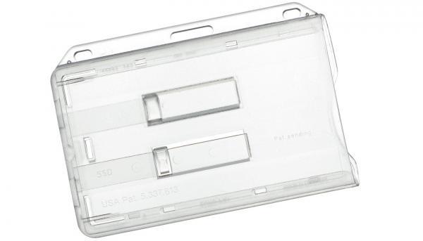 Dppel-Kartenhalter mit Schieber für zwei Ausweise