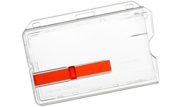 Ausweishüllen aus Polycarbonat, roter Schieber
