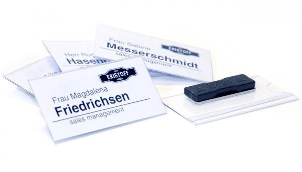 Flat40 Namensschild mit Magnet