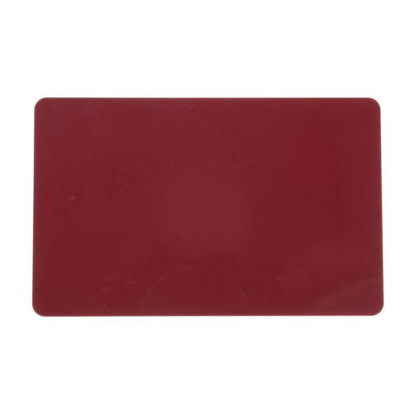 Plastikkarten Dunkelrot, Rohling aus PVC