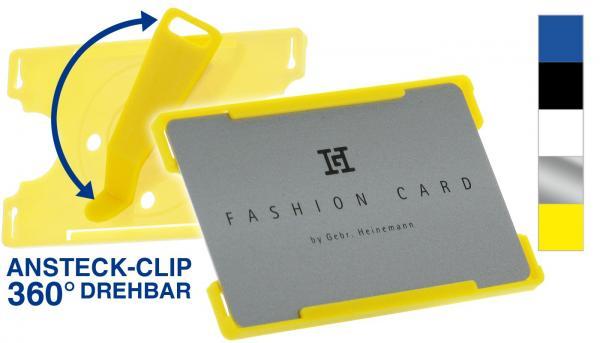 Offener Kartenhalter mit Clip, farbig