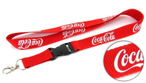 Schlüsselbänder bedrucken mit Logo als Werbemittel, Coca-Cola Lanyard
