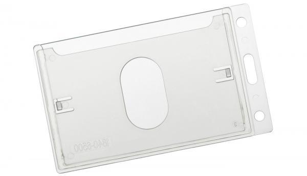 Kartenhalter aus Hartplastik im Hochformat