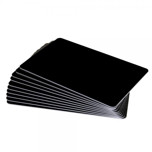 Plastikkarten Schwarz mattiert, Rohling aus PVC