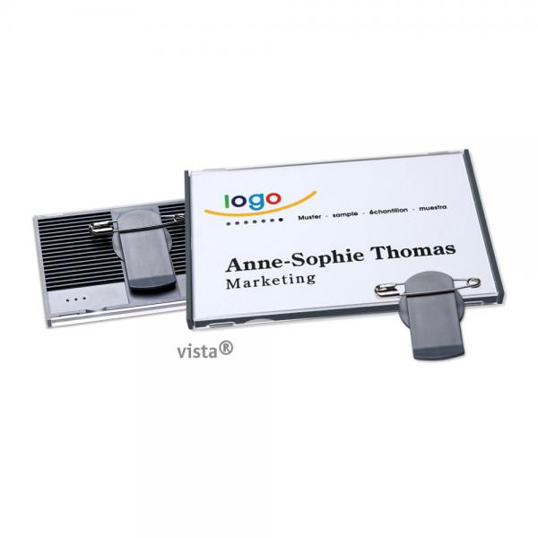Vista 50 Namensschild mit Multiclip
