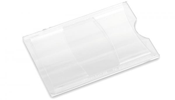 Scheckkartenhülle, transparent-farbig