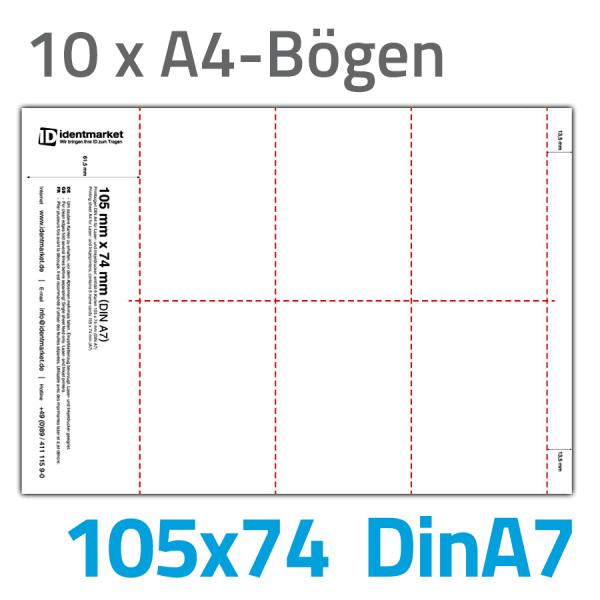 Einsteckschilder, 60 Stk., 105x74 mm (DinA7)