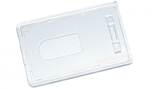 Ausweishuellen im Scheckkartenformat, Kartenhalter aus Hartplastik