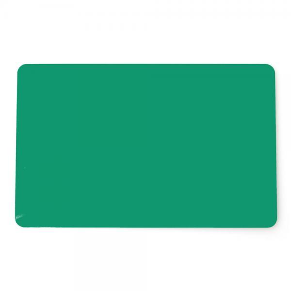 Plastikkarten Grün, Rohling aus PVC