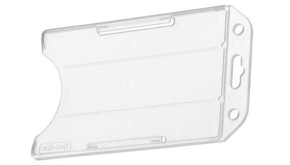 kartenhalter offen hochformat transparent